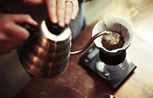 The highly regarded Hario V60 drip coffee cone.