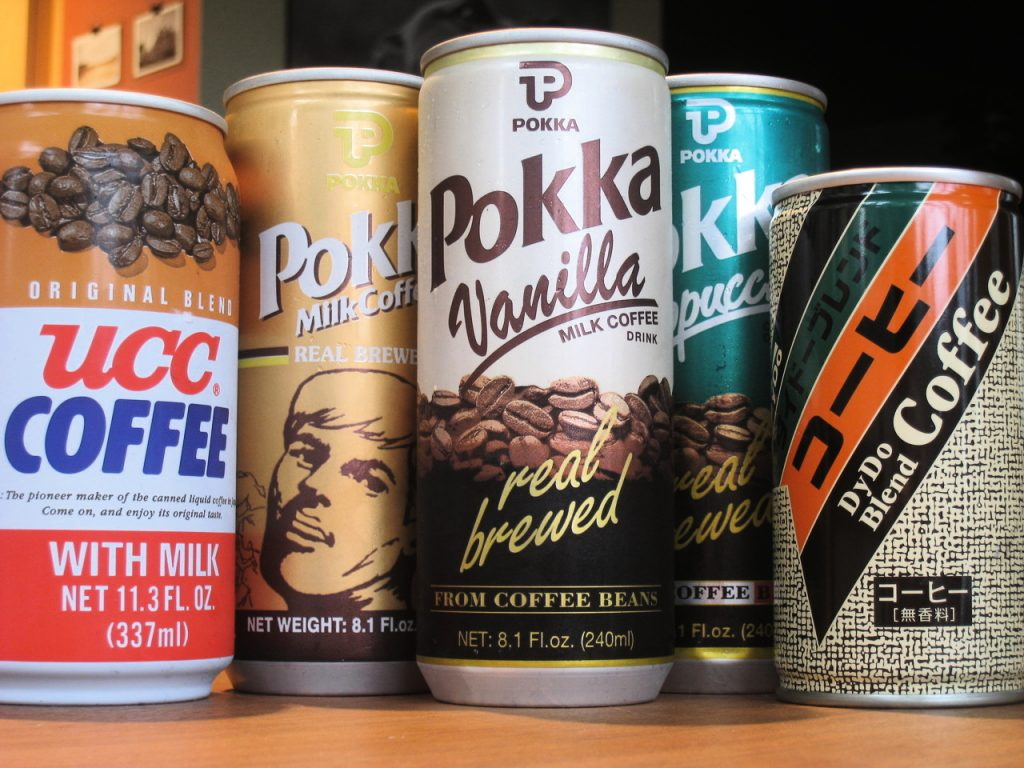 Japanese coffee in a can, the ultimate coffee-on-the-go drink.