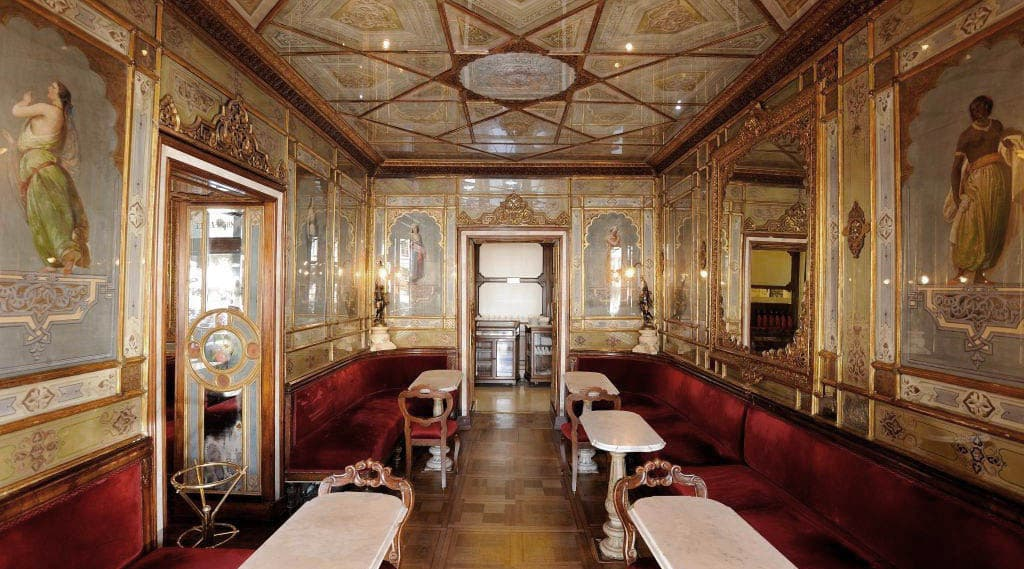 Sala Orientale Caffè Florian in Venice, the oldest coffee house in Italy from 1760
